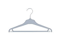 Universal clothes hanger 01-111 grey