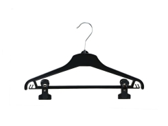 Universal clothes hanger 01-111 black with pegs