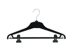 Universal clothes hanger 01-114 black with pegs