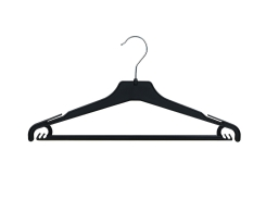 Universal clothes hanger 15-113 black with notches